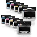 Prestige Cartridge PGI-550/CLI-551 Dieci Cartucce di Inchiostro non OEM per Stampanti Canon Pixma, Multicolore