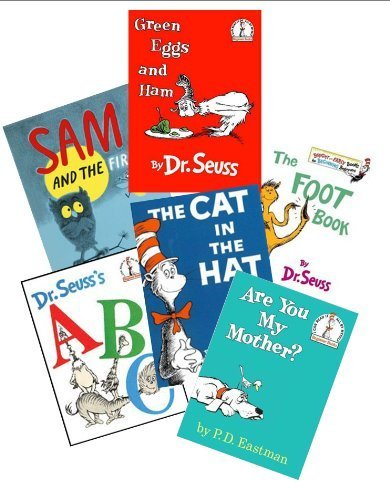 Dr. Seuss Book Set (6) : The Cat in the Hat - Green Eggs and Ham - Are You My Mother - Sam and the Firefly - Abc - The Foot Book (Dr. Seuss Collection) by Dr. Seuss (2006-05-04) -