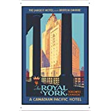 Tin Sign of Retro Vintage Travel Poster Toronto Canada (20x30cm) By Nature Scene Painting