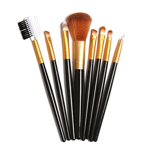 8 Piece Makeup Brush Set Eye Shadow Eyeliner Powder Face Lip Cosmetics Tool Foundation Natural Beauty Palettes Eyeshadow Magnificent Popular Eyes Colorful Rainbow Hair Highlights Glitter Travel Kit