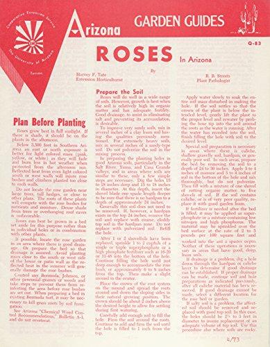 Arizona Garden Guides - Q-83 - Roses In Arizona - Soil Preparation, Irrigation, Cultivation, Fertilize, Pruning, Planting, Types