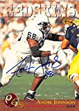 Autograph 124240 Washington Redskins 1996 Classic No. 14 Andre Johnson Autographed Football Card