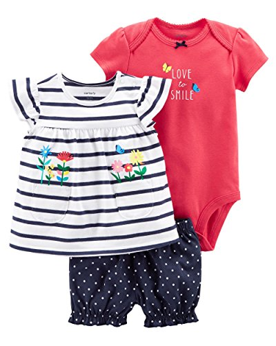 Carter's Baby Girls' 3 Piece Bodysuit and Diaper Cover Set 9 Months by Carter's