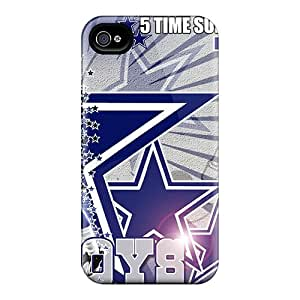 High Impact Dirt/shock Proof Case Cover For Iphone 4/4s (dallas Cowboys)