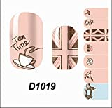 1-Sheet Exceptional Popular Nails Art Wraps Sticker Water Transfers Decoration Tips Manicure Decor Fashion Style D1019