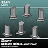 Pillars, Terrain Scenery for Tabletop 28mm Miniatures Wargame, 3D Printed and Paintable, EnderToys