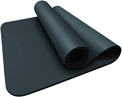 Amazon Com Ly Products Nbr Yoga Mat 10mm 15mm Extra Thick Non Slip Exercise Fitness Mat For All Types Of Yoga Mats For Pilates Fitness Workout With Carrying Strap
