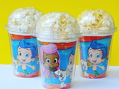 Set of 8 - Bubble Guppies Party Cups, Popcorn Cups, Goody Bags, Favor Boxes by Neon -