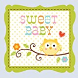 Creative Converting Happi Tree Sweet Baby Boy Beverage Napkins, 16 Count