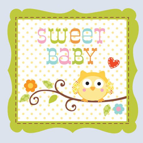 16-Count Paper Beverage Napkins, Happi Tree Sweet Baby Boy
