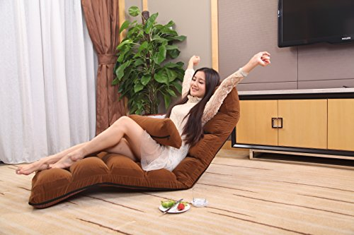 51b22lUsFdL - e-joy-Relaxing-Sofa-Bean-Bag-Folding-Sofa-Chair-Futon-Chair-Lounge-Brown