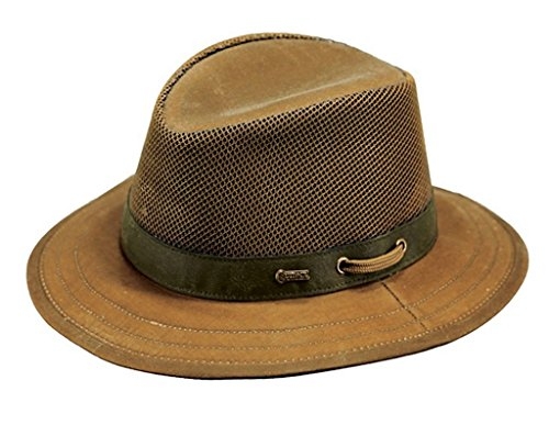 - Outback Trading Co Men's Co. Oilskin Willis With Mesh Hat Tan Large