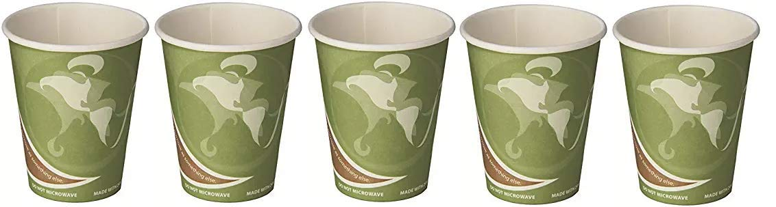 Eco-Products ECOEPBRHC12EWPK Evolution World PCF Hot Cups, Post-Consumer Fiber, Recycled, 12 oz (Pack of 50) (5-(Pack))