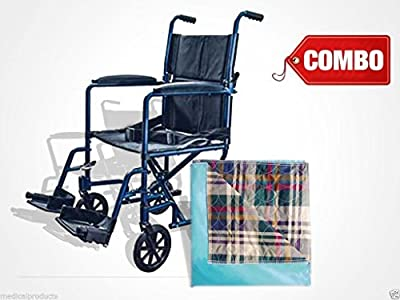 Transport Chair with Washable Chair Pad by Cardinal Health