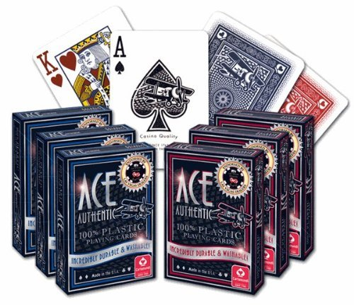 ACE Casino 100% Plastic Playing Cards - 6 Decks]()