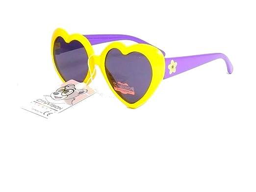 a986f16146 lunettes de soleil coeur enfant fille 4 5 6 7 ans 078068 (âge :de 4 à 7 ans,  monture jaune violet): Amazon.fr: Vêtements et accessoires