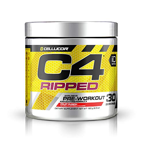 Cellucor – C4 Ripped Fruit Punch, 30 Servings, 180 g (8.34 oz)