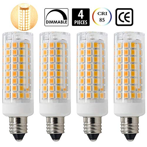 E11 LED, All-New (102LEDs) E11 Led Bulbs, 8W 75W-100W Equivalent, 850 LM, Warm White 3000K, Dimmable,E11 Mini Candelabra Base, JD T3/T4 360 Degree Beam Angle for Indoor Decorative Lighting(4 Pack)