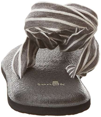Sanuk Yoga Sling#2 Prints, Chanclas Para Mujer Charcoal/Natural Stripes