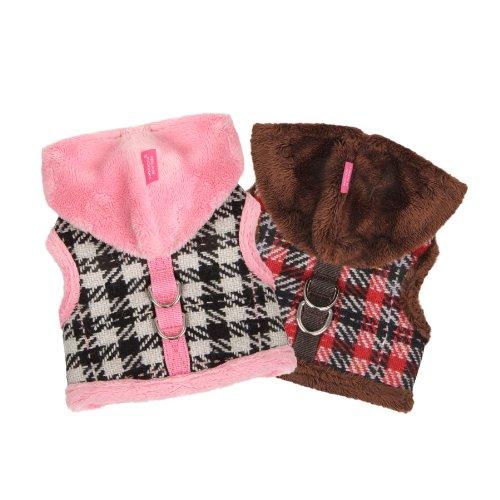 Pinkaholic New York Dashing Pinka Pet Harness, Medium, Brown