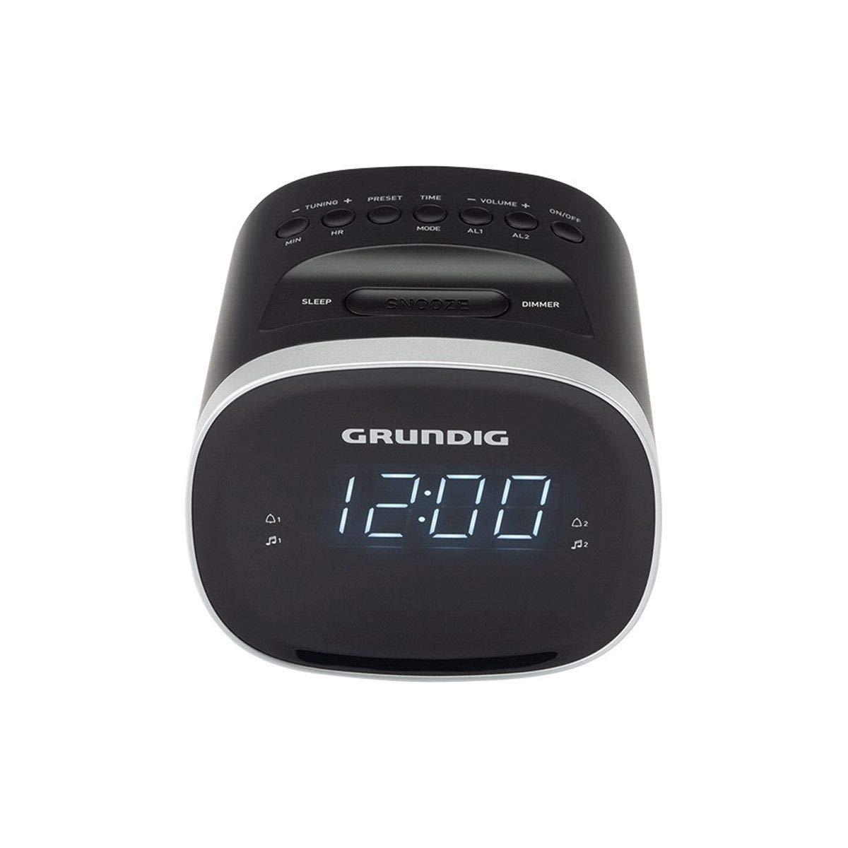 Radio Despertador Negro Grundig