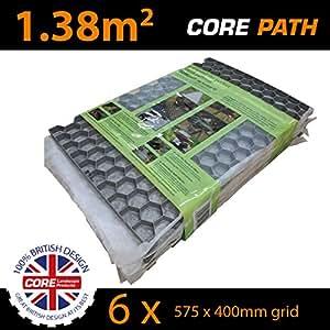 Core camino cp3818rl práctico Estabilizador de grava rejilla, gris, 575x 400mm