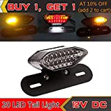 FidgetFidget Motorcycle Brake Rear light Turn Signal License Plate Integrated Light 20LED 12V