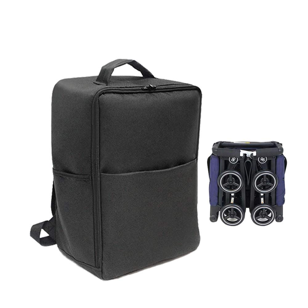 Black Baby Stroller Accessories Transport Storage Bag for Goodbaby POCKIT Pram Travel Bag Backpack for GB