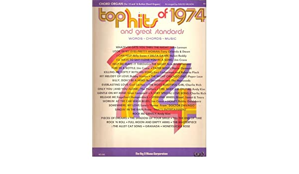 Top Hits Of 1974 For Chord Organ Sheet Music Amazon Books