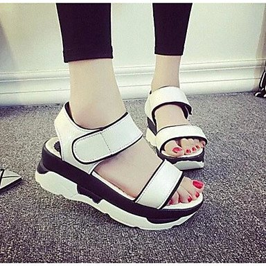 Comfort 1In White Black 3 UK5 EU38 4In Silver 5 1 5 Summer Patent RTRY CN38 Women'S US7 Casual Leather Comfort Sandals qPzExf