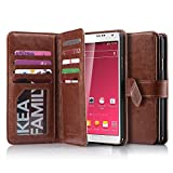 Note 3 Case, Galaxy Note 3 Case ULAK Wallet Case Samsung Note 3 Flip Case Cover Premium PU Leather Case with Built-in 9 Card Slots Cash Pocket Wallet Case for Samsung Galaxy Note 3 III N9000 Brown