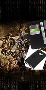 NEECELL GIFT forCITY // Billetera de cuero Caso Cubierta de protección Carcasa / Leather Wallet Case for Samsung Galaxy S6 EDGE // Ataque Asesinos