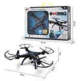 Gbell Kids Camera WiFi FPV Drone - M39GW 2.4G 6-axis 4CH HD Camera WiFi FPV Gyro RC Quadcopter Altitude Hold for Beginner,Kids Adults Birthday Christmas New Year Gifts,Black (Black)