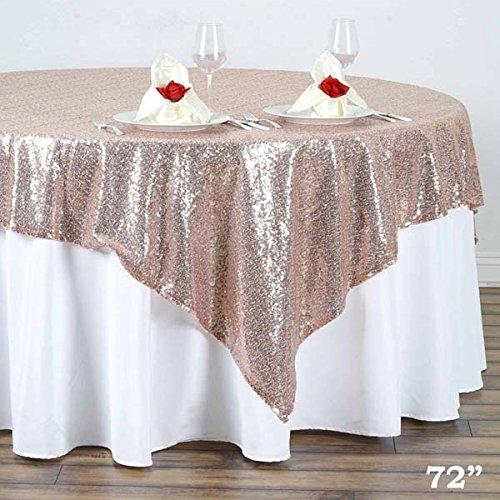 tableclothsfactoryラグジュアリーコレクションDuchessスパンコールテーブルオーバーレイ72