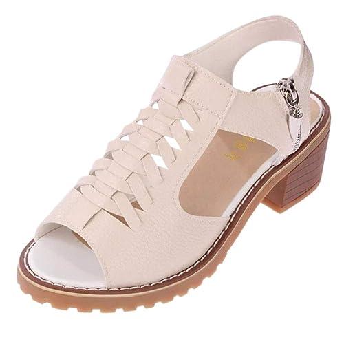 Huatime Altos Mujer Zapatos Bajo Sandalias Mujeres Tacón Tacones 7fybY6g