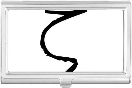 Estuche para tarjetas de visita, diseño de alfabeto griego y zeta, color negro: Amazon.es: Oficina y papelería