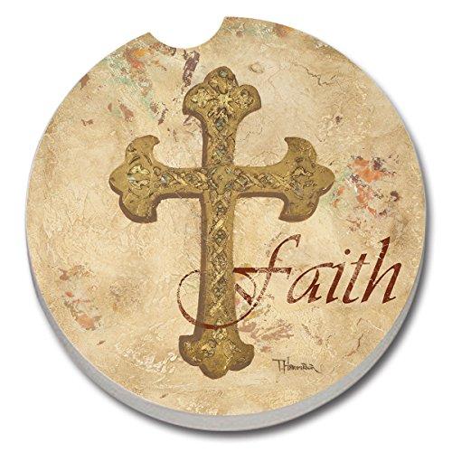 Stoneware Car Coaster, Faith (Stoneware Car Coaster)