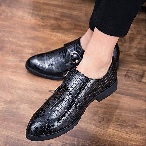 EU di Uomo Scarpe 44 in a Xiaojuan Rosso Rosso Dimensione forma verniciata shoes Business formali Color Scarpe pelle Casual Magic Uomo Pelle Oxford coccodrillo Stick Bx7TBagw