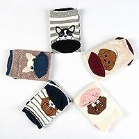 Women's Cute Animal Socks, Fun and Cool 100% Cotton Art Socks for Women