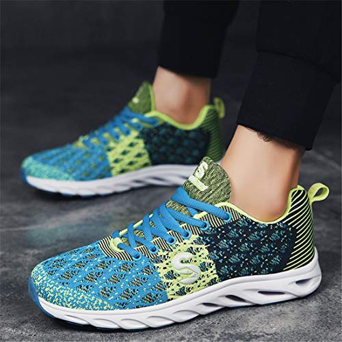 Femmes Sevenwell Respirant Lger Fly Running Bleu Sneakers Tricot Sport Unisexe Chaussures Active Hommes AAxtw08qr5