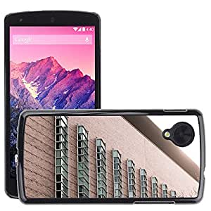 Hot Style Cell Phone PC Hard Case Cover // M00170122 Facade Building Windows Architecture // LG Nexus 5