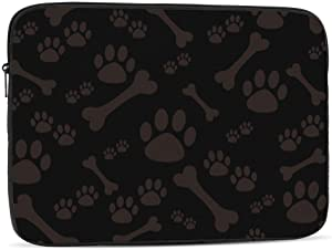 Laptop Case,10-17 Inch Laptop Sleeve Carrying Case Polyester Sleeve for Acer/Asus/Dell/Lenovo/MacBook Pro/HP/Samsung/Sony/Toshiba,Dog Paw Print Bone 17 inch
