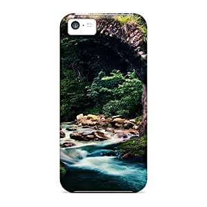 Faddish Phone Stone Arch Over Mountain Stream Case For Iphone 5c / Perfect Case Cover