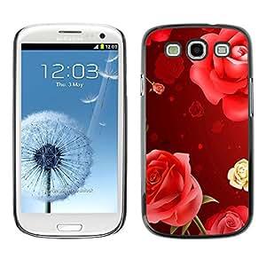 - Rose Red Pink Flower - - Monedero pared Design Premium cuero del tir¨®n magn¨¦tico delgado del caso de la cubierta pata de ca FOR Samsung Galaxy S3 I9300 I9308 I737 Funny House