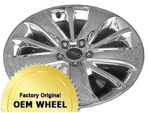 FORD TAURUS 19X8 10 SPOKE Factory Oem Wheel Rim- CHROME CLAD - Remanufactured