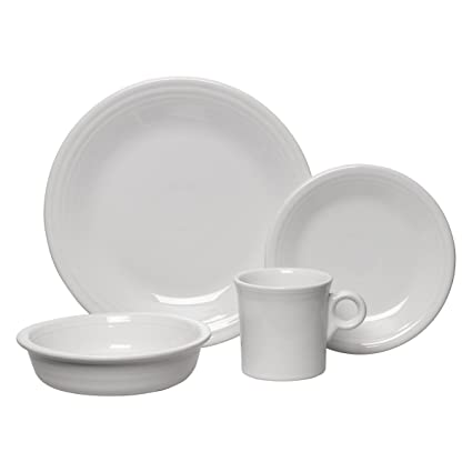 Fiesta 16-Piece Service for 4 Dinnerware Set White  sc 1 st  Amazon.com & Amazon.com | Fiesta 16-Piece Service for 4 Dinnerware Set White ...