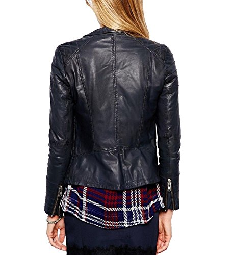 Noir Blouson Junction Leather Leather Junction Femme nPx48qw