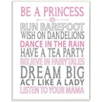 The Kids Room by Stupell Be A Princess Pink Typog Wall...