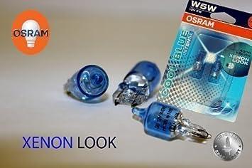 Original Osram 1 Set T10 W5w 12v 5w Cool Blue Intense Xenon Look 4000 Kelvin Festoon Parking Light Headlights Without Error Message German Road Traffic Regulations Approved Auto