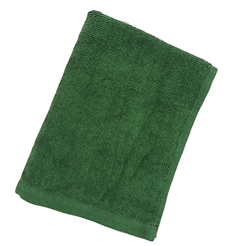 Hand Hemmed Embroidered Towel - Green Deluxe Hemmed Fingertip Towels 11in x 18in - Set of 6